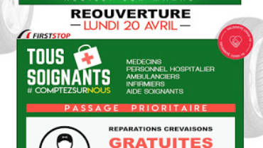 Jumbo Pneus Neuilly-sur-Marne rouvre ses portes le 20 avril 2020